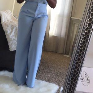 Baby blue wide leg pants!